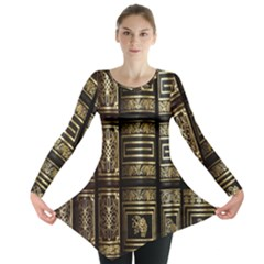 Detail Golden Gold Ornaments Long Sleeve Tunic