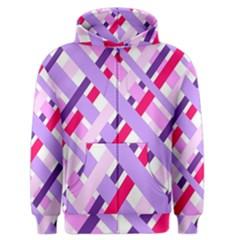 Diagonal Gingham Geometric Men s Zipper Hoodie