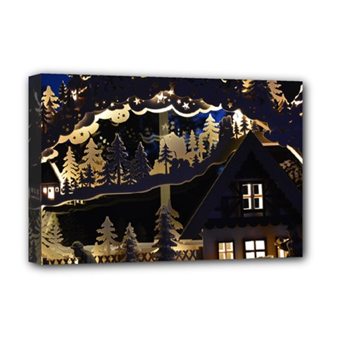 Christmas Advent Candle Arches Deluxe Canvas 18  x 12