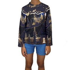 Christmas Advent Candle Arches Kids  Long Sleeve Swimwear