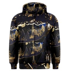 Christmas Advent Candle Arches Men s Zipper Hoodie