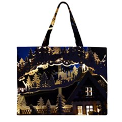 Christmas Advent Candle Arches Zipper Large Tote Bag