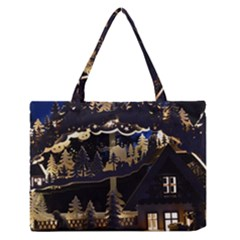 Christmas Advent Candle Arches Medium Zipper Tote Bag
