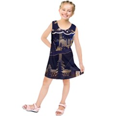 Christmas Advent Candle Arches Kids  Tunic Dress