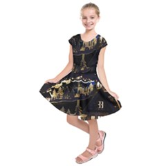 Christmas Advent Candle Arches Kids  Short Sleeve Dress