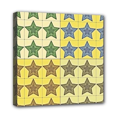 Pattern With A Stars Mini Canvas 8  X 8