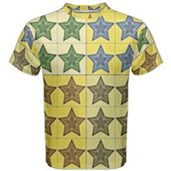 Pattern With A Stars Men s Cotton Tee