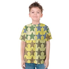 Pattern With A Stars Kids  Cotton Tee
