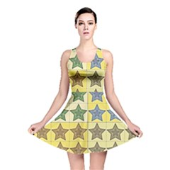 Pattern With A Stars Reversible Skater Dress