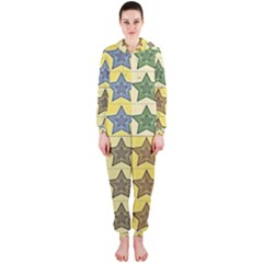 Pattern With A Stars Hooded Jumpsuit (Ladies)