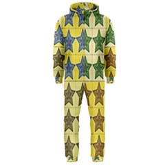 Pattern With A Stars Hooded Jumpsuit (Men)