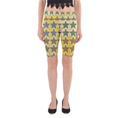 Pattern With A Stars Yoga Cropped Leggings