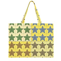 Pattern With A Stars Large Tote Bag