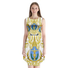 Royal Arms of Cambodia Sleeveless Chiffon Dress