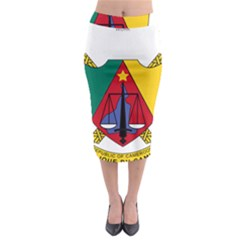 Coat of Arms of Cameroon Midi Pencil Skirt