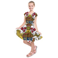 Coat of Arms of Canada  Kids  Short Sleeve Dress