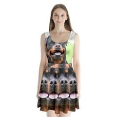 Rottweiler Split Back Mini Dress