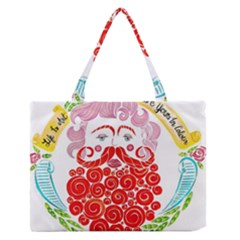 LIFE IS ART  Medium Zipper Tote Bag