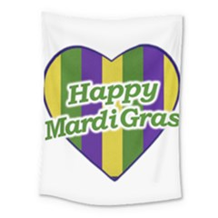 Happy Mardi Gras Logo Medium Tapestry