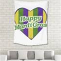 Happy Mardi Gras Logo Medium Tapestry View2