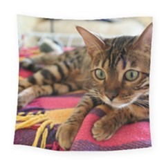 Bengal Laying Square Tapestry (Large)