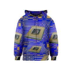 Processor Cpu Board Circuits Kids  Zipper Hoodie