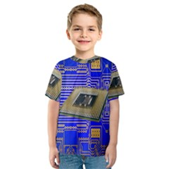 Processor Cpu Board Circuits Kids  Sport Mesh Tee