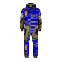 Processor Cpu Board Circuits Hooded Jumpsuit (Kids)