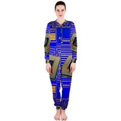 Processor Cpu Board Circuits OnePiece Jumpsuit (Ladies)