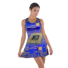 Processor Cpu Board Circuits Cotton Racerback Dress
