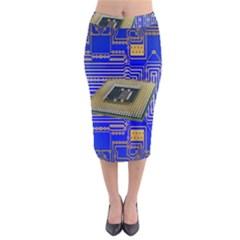 Processor Cpu Board Circuits Midi Pencil Skirt