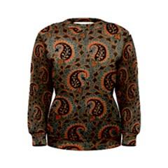 Persian Silk Brocade Women s Sweatshirt