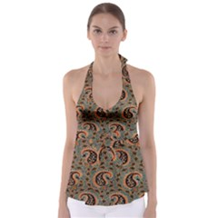 Persian Silk Brocade Babydoll Tankini Top