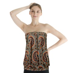 Persian Silk Brocade Strapless Top