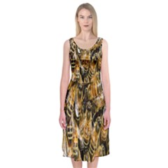 Honey Bee Water Buckfast Midi Sleeveless Dress