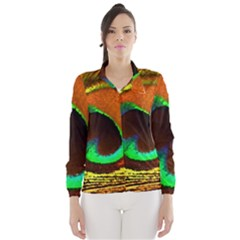 Peacock Feather Eye Wind Breaker (women)