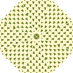 Leaf Pattern Green Wallpaper Tea Hook Handle Umbrellas (Medium)