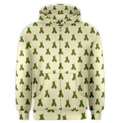 Leaf Pattern Green Wallpaper Tea Men s Zipper Hoodie