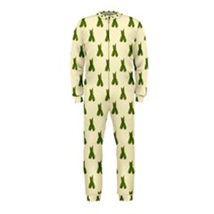 Leaf Pattern Green Wallpaper Tea OnePiece Jumpsuit (Kids)