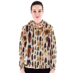 Insect Collection Women s Zipper Hoodie