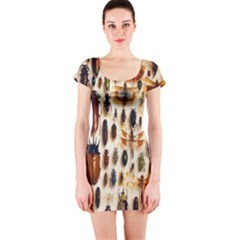 Insect Collection Short Sleeve Bodycon Dress