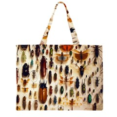 Insect Collection Zipper Large Tote Bag