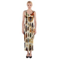 Insect Collection Fitted Maxi Dress