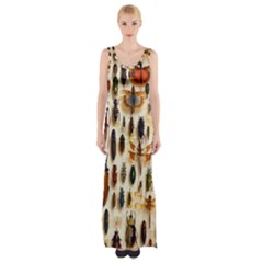 Insect Collection Maxi Thigh Split Dress