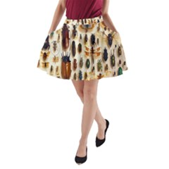 Insect Collection A-Line Pocket Skirt