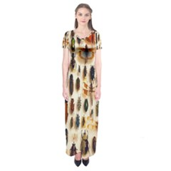 Insect Collection Short Sleeve Maxi Dress