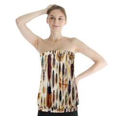 Insect Collection Strapless Top