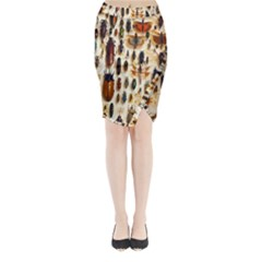 Insect Collection Midi Wrap Pencil Skirt