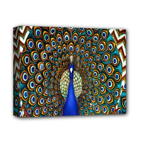 The Peacock Pattern Deluxe Canvas 14  X 11