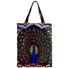 The Peacock Pattern Zipper Classic Tote Bag